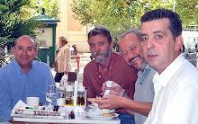 Con Pepe Roman,Juan M. Pozo y Jesus Melero