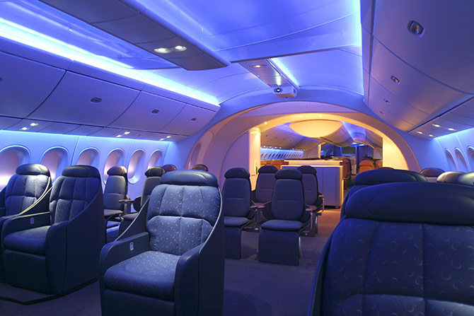 Superb Boeing 787 Interior Shot.