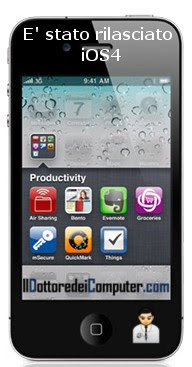 nuovo sistema operativo iphone ios4