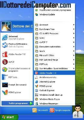 menu classic windows xp