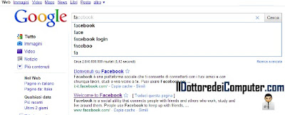 google instant per ricerche più rapide