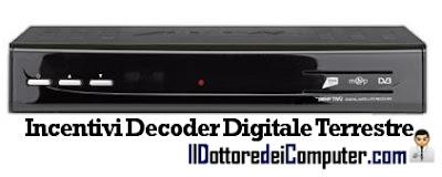 incentivi decoder digitale terrestre