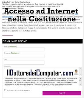 accesso internet in costituzione