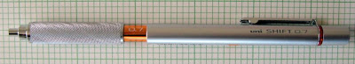Uni Shift mechanical pencil silver orange