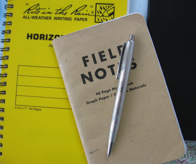 Filofax pencil and Field Notes