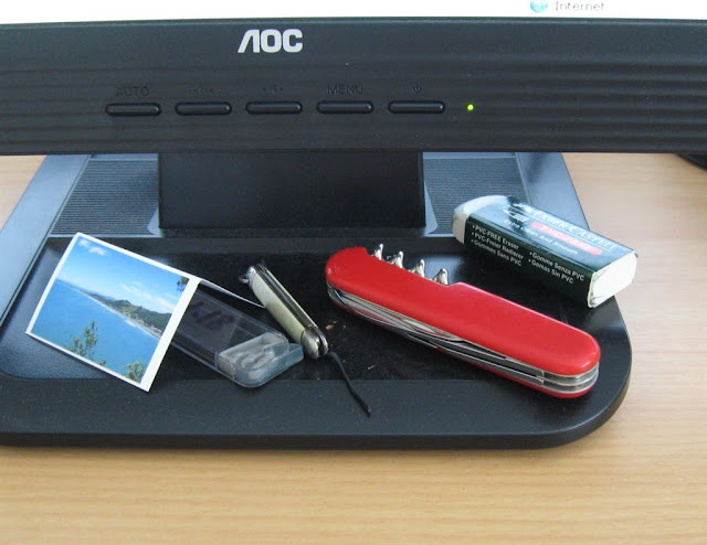 desk and swiss army knife