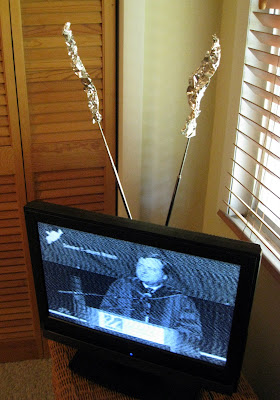 Image result for old tv with rabbit ears
