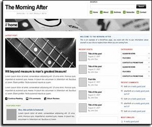 the morning after time wordpress template