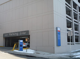 Now Sacred Heart Parking Garage Entrance/Exit on Seventh Avenue