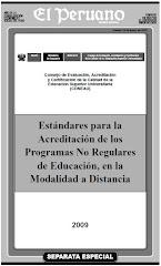 Estándares para la Acreditacion de los Programas No Regulares de Educación Mod a Distancia