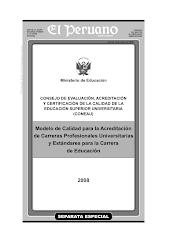 Estándares para la Carrera Profesional de Educación