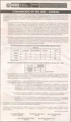 Comunicado n° 002-2009-CONEAU