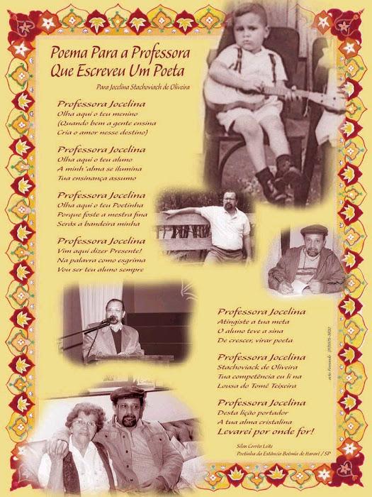 Poster-Poema Para a Professora Jocelina Stachoviack de Oliveira