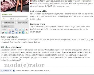 Moda(e)rator Sabah Gazetesi Cumartesi Ekinde