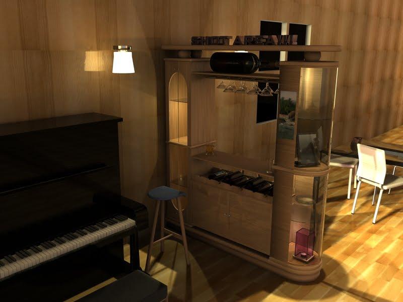 creative arts mini bar design concept