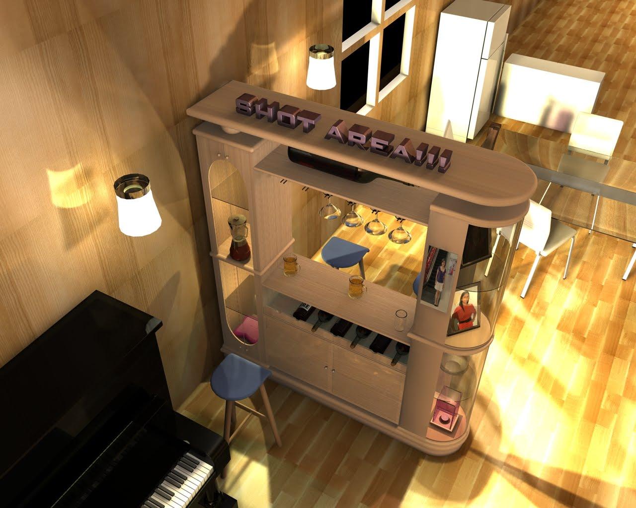 Mini Interior Design With Mini Bar