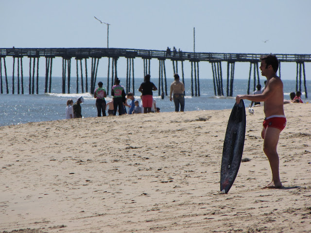Surfers at Virginia Beach - April 2010
