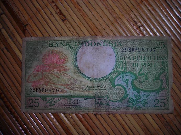 uang kuno 25 rupiah