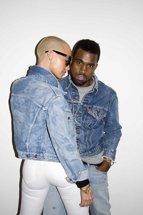 amber rose kanye west. tattoo Kanye West and Amber