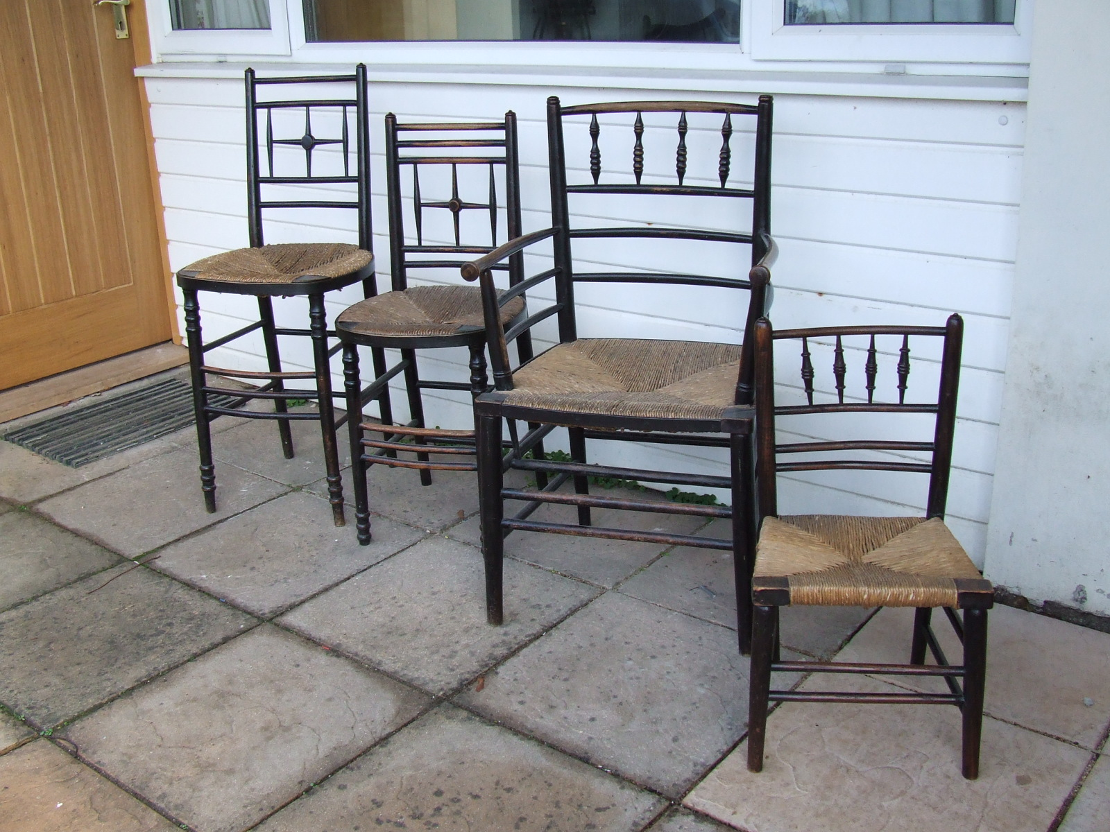 Former Glory Seat Weaving A Collection Of William Morris Chairs - William morris chairs