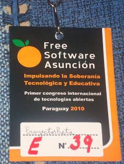 Credencial a Free Software Asunción