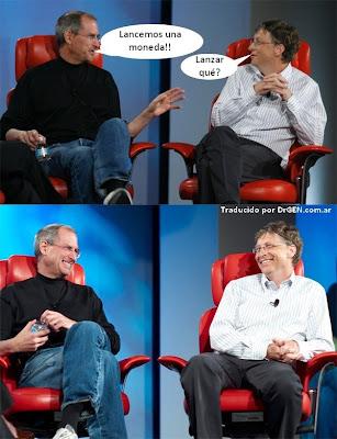 Imagen de Steve Jobs y Bill Gates - moneda