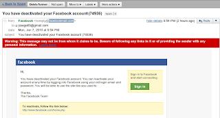 Imagen de Phishing para Facebook