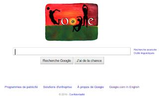 Imagen de Google Francia celebrando el Mundial de Fútbol 2010