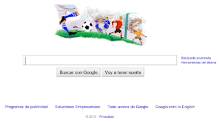 Imagen de Google celebrando el Mundial de Fútbol 2010