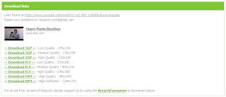Imagen del ejemplo para elegir el formato de descarga de un vídeo de youtube