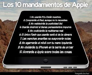 Imagen de los 10 mandamientos de Apple