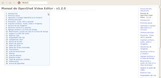 Imagen de la documentación de OpenShot 1.2.0 en Ubuntu 10.04