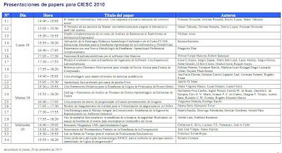 Imagen del Programa CLEI 2010