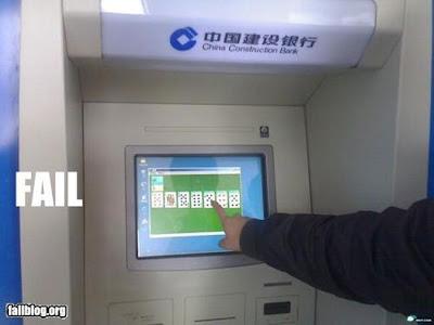 Imagen de una funcionalidad extra del cajero automático de un banco