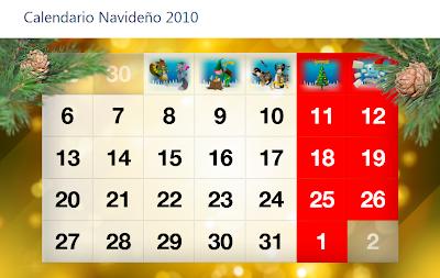 Imagen del calendario Navideño 2010 de Microsoft Ibérica