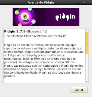 Imagen de Pidgin 2.7.9 en Ubuntu 10.04