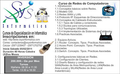 Imagen de un curso de redes de computadoras en Paraguay