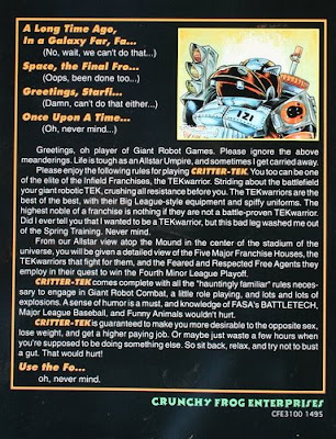battletech crittertech humor game back cover