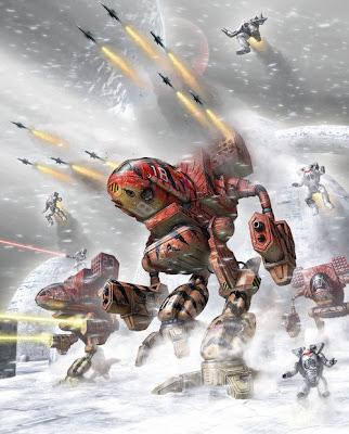 Battletech Clan Battlemechs attack