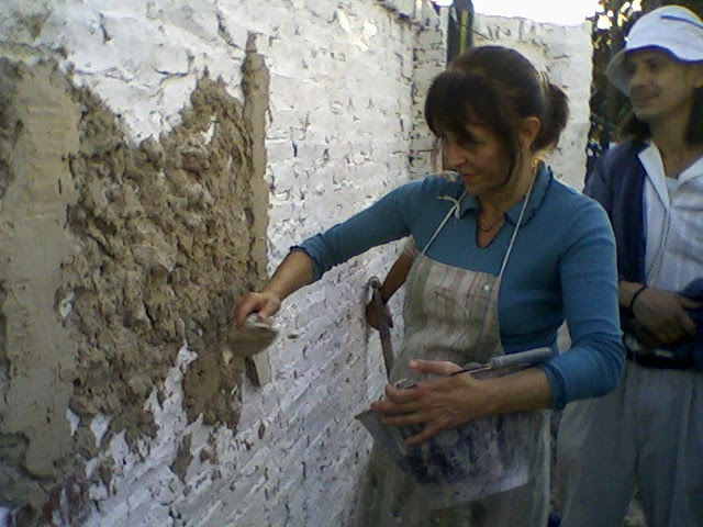 Alba iler a para mujeres el revoque grueso c mo se - Como aislar una pared ...