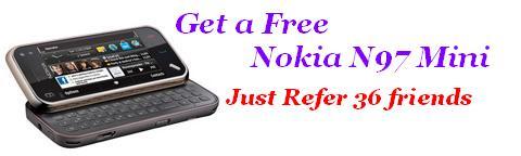 Get A Free Nokia N97 Mini