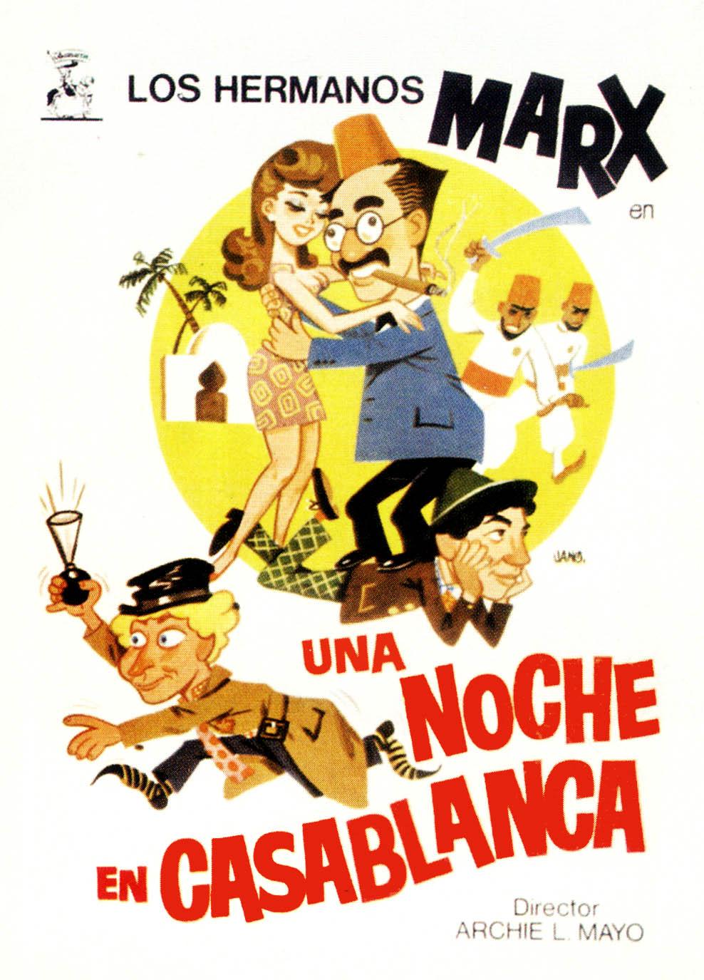 Ver Película Hermanos Marx: Una Noche en Casablanca Online Gratis (1946)