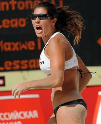 Women beach volleyball in Moscow