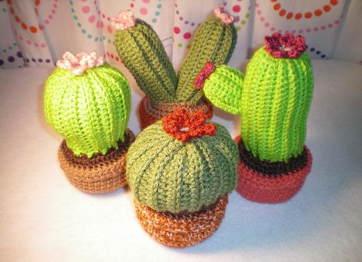 Elf s Dwarf Crochet: Crochet Cactus Garden ~ Free Pattern