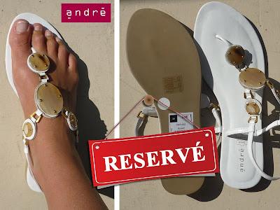 vide dressing - sandale neuve blanche Andre