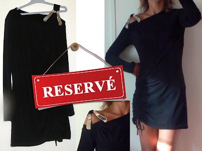 vide dressing : robe courte noire