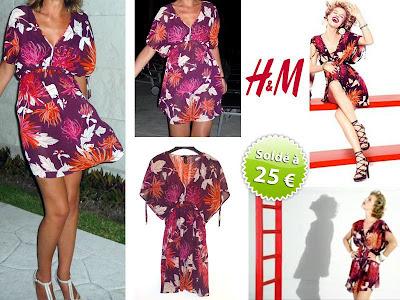 vide-dressing tunique robe H&M Herzigova