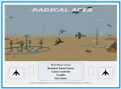 screenshot of Radical Aces start screen