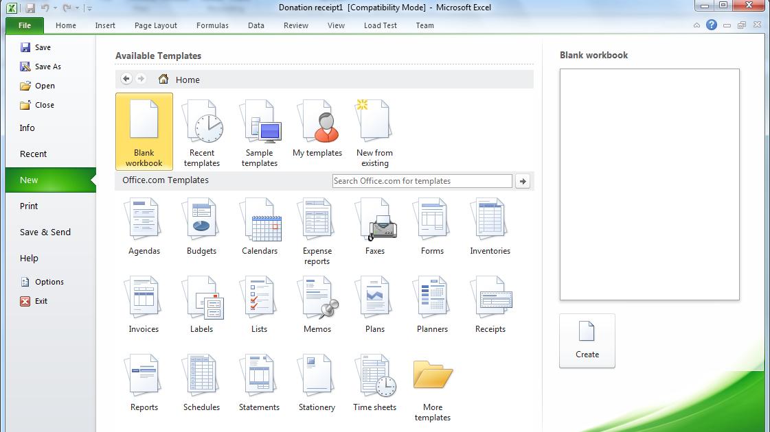 officecom templates 2010