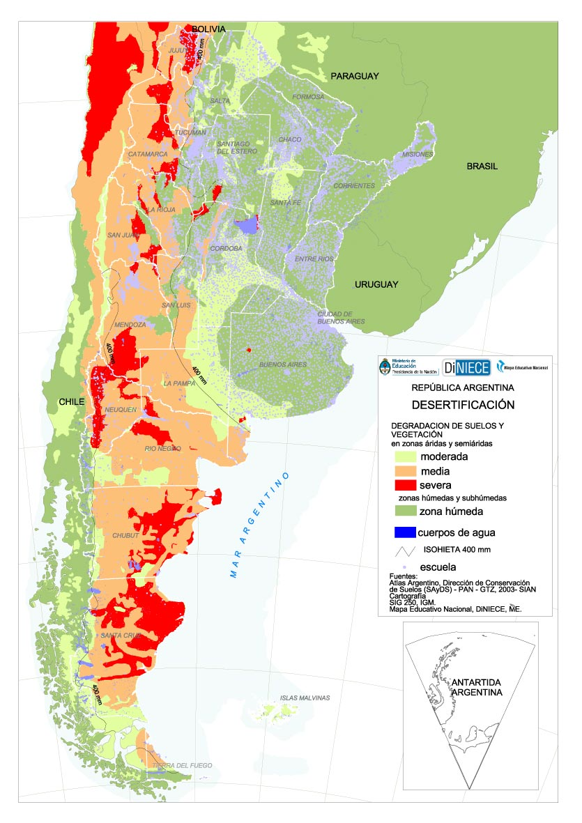 Soil Issues In Central And South America Desertification In Argentina - Argentina agriculture map